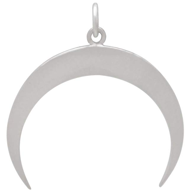 Sterling Silver Moon Pendant with All Seeing Eye
