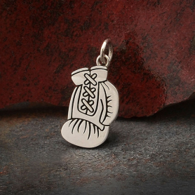 Sterling Silver Boxing Glove Charm 21x10mm