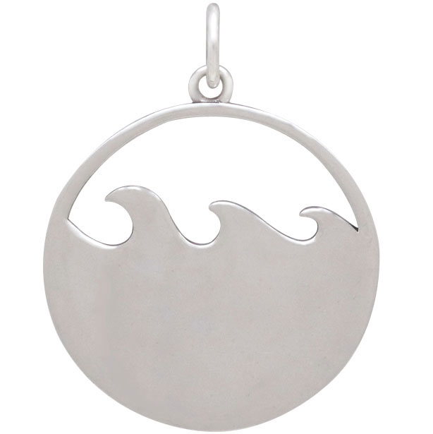 Sterling Silver Ocean Swimming Girl Charm 26x20mm