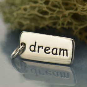 Sterling Silver Word Charm - Dream