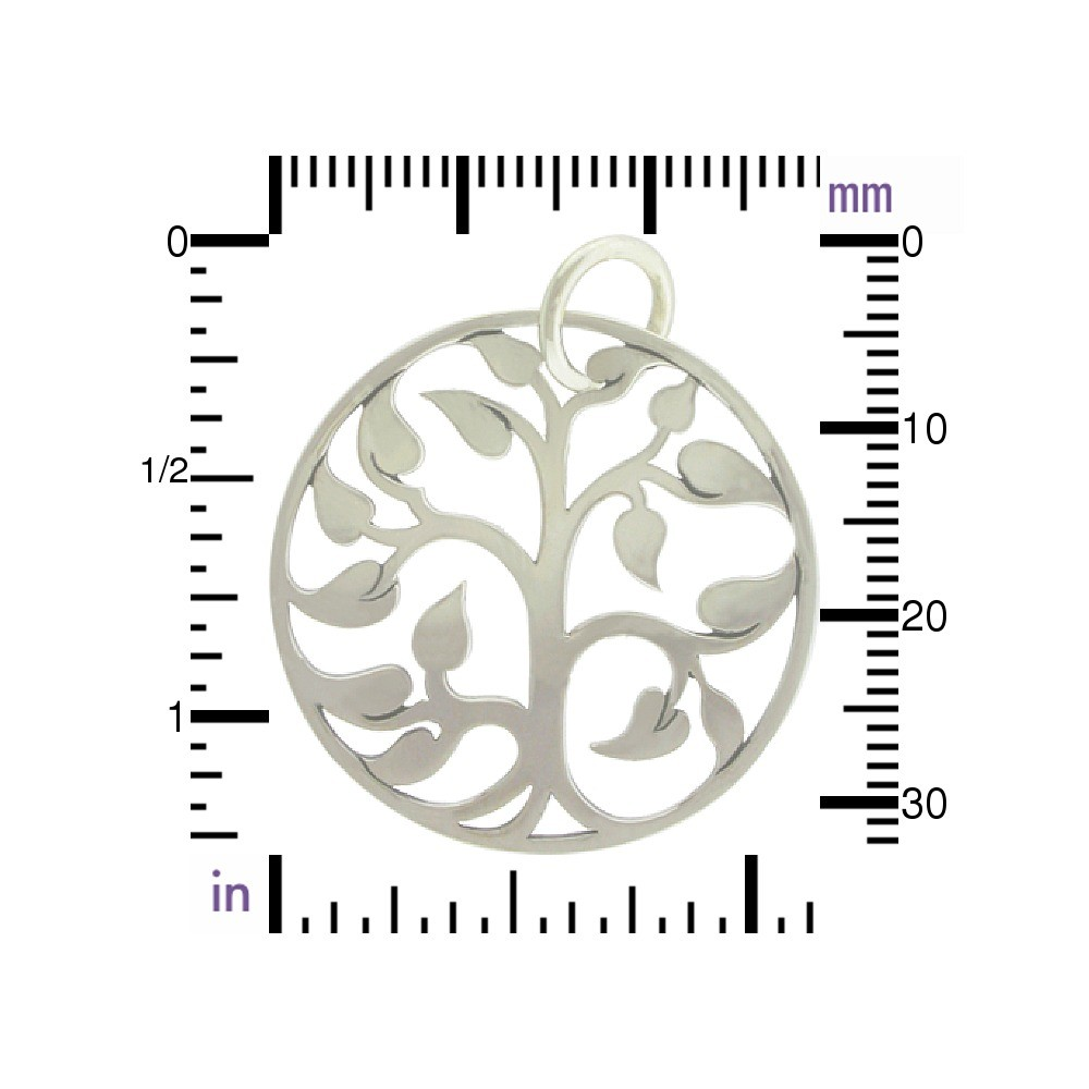Sterling Silver Tree of Life Pendant - Large 34x30mm