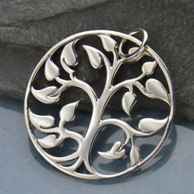 Sterling Silver Tree of Life Pendant - Large