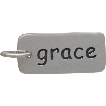 Sterling Silver Word Charm - Grace