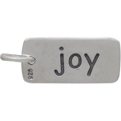 Sterling Silver Word Charm - Joy