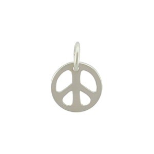 Sterling Silver Peace Charm - Small 12x9mm