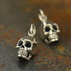 Sterling Silver Medium Skull Charm