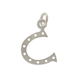 Sterling Silver Horseshoe Charm - Small 16x10mm