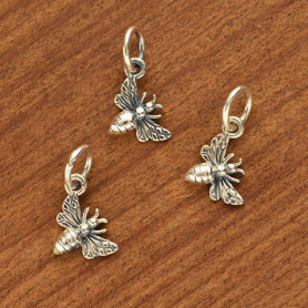 Sterling Silver Tiny Honey Bee Charm