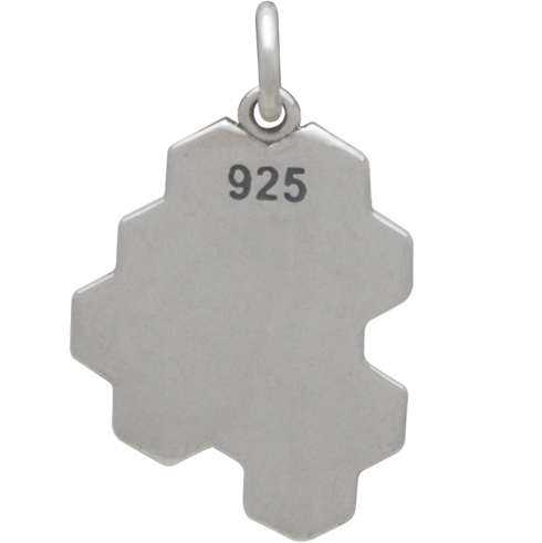 Sterling Silver Honeycomb Charm - Solid DISCONTINUED