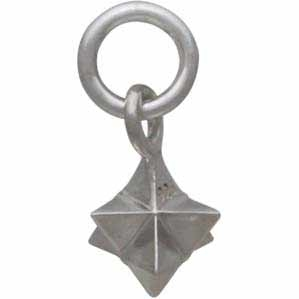 Sterling Silver Small Merkabah Charm - Sacred Geometry Charm