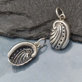 Sterling Silver Abalone Charm - Ocean Charm