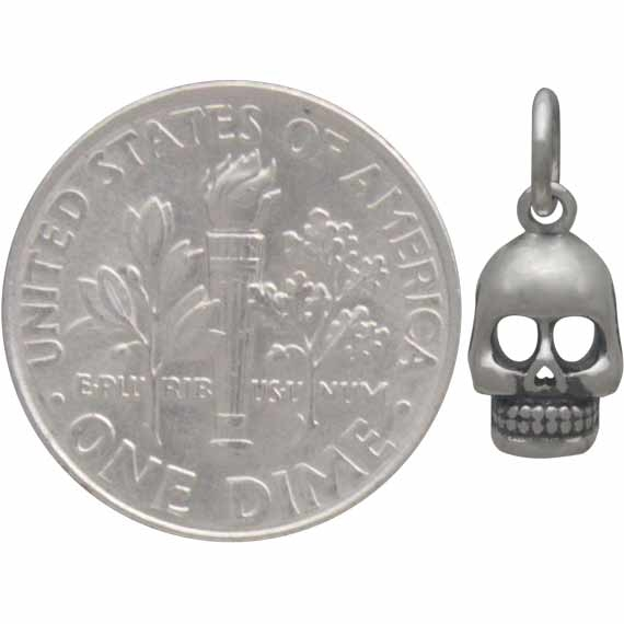 Sterling Silver Small Skull Charm