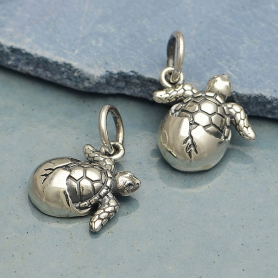 Sterling Silver Baby Sea Turtle Charm