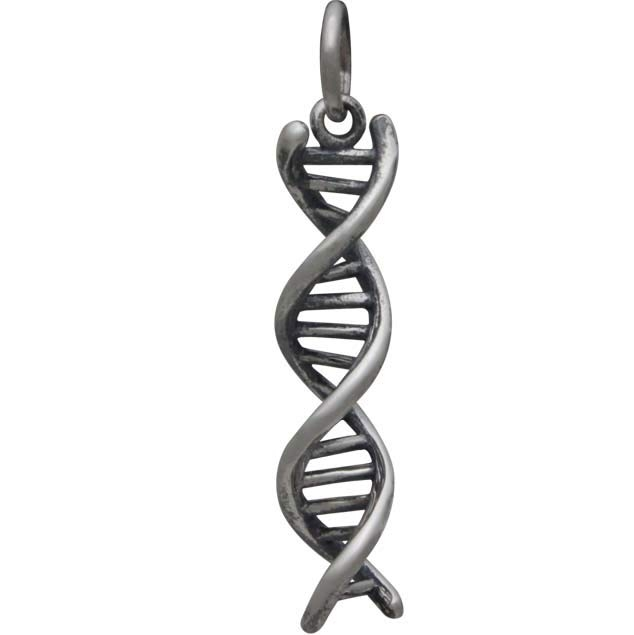 Sterling Silver DNA Charm 26x5mm