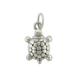 Sterling Silver Turtle Charm - Beach Charm