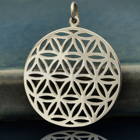 Sterling Silver Flower of Life Sacred Geometry Pendant