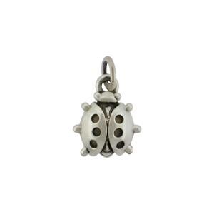 Sterling Silver Ladybug Charm - Bug Charm 13x8mm