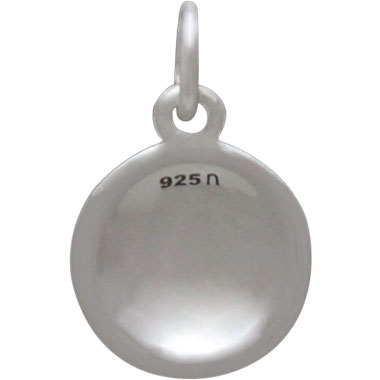 Sterling Silver Baseball Charm 16x10mm