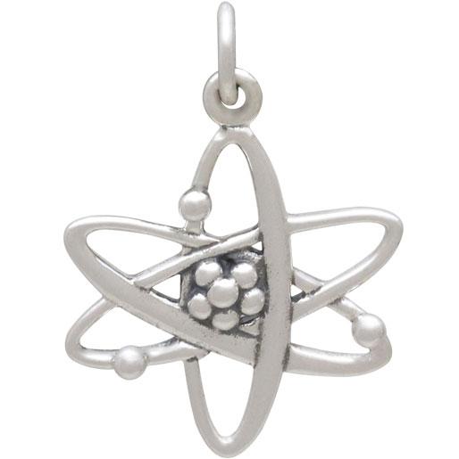 Sterling Silver Atom Charm 23x16mm