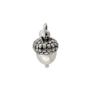 Sterling Silver Acorn Charm 15x7mm