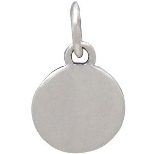 Mixed Metal Silver and Bronze Moon Charm 13x8mm