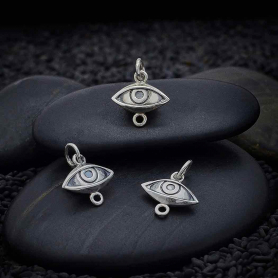 Sterling Silver Dimensional Eye Link 15x12mm