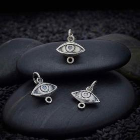 Sterling Silver Dimensional Eye Link 15x12mm