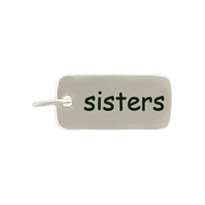 Sterling Silver Word Charm - Sisters