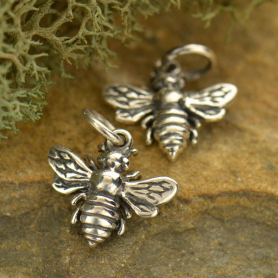 Sterling Silver Bee Charm - Small