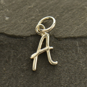 Sterling Silver Initial Charms Letter A