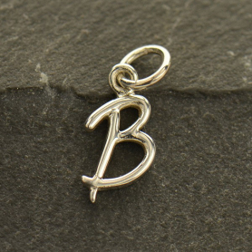 Sterling Silver Initial Charms Letter B