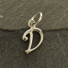 Sterling Silver Initial Charms Letter D