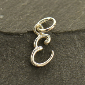 Sterling Silver Initial Charms Letter E