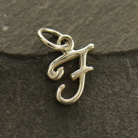 Sterling Silver Initial Charms Letter F