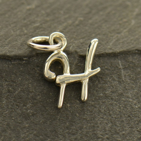 Sterling Silver Initial Charms Letter H