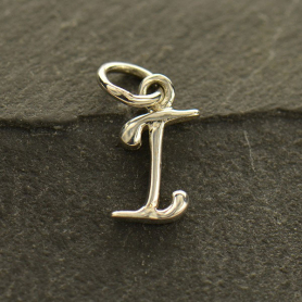 Sterling Silver Initial Charms Letter I