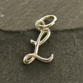 Sterling Silver Initial Charms Letter L