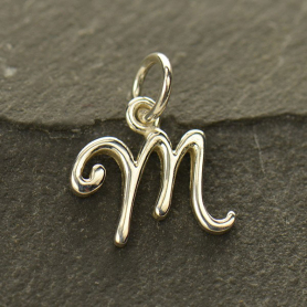 Sterling Silver Initial Charms Letter M
