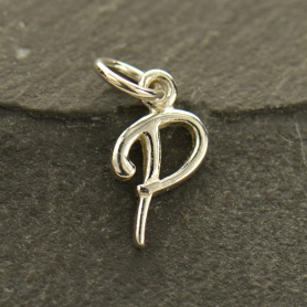 Sterling Silver Initial Charm Letter P