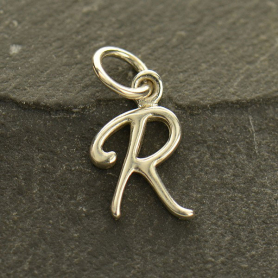 Sterling Silver Initial Charm Letter R