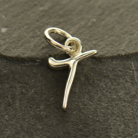 Sterling Silver Initial Charm Letter T