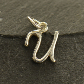 Sterling Silver Initial Charm Letter U