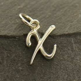 Sterling Silver Initial Charm Letter X
