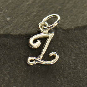 Sterling Silver Initial Charm Letter Z