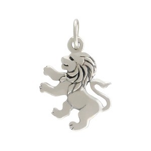 Sterling Silver Lion Charm 19x12mm