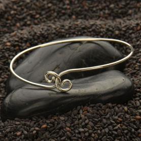 Sterling Silver Charm Bracelet - Twist Closure Small