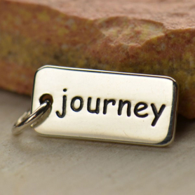 Sterling Silver Word Charm - Journey 18x7mm