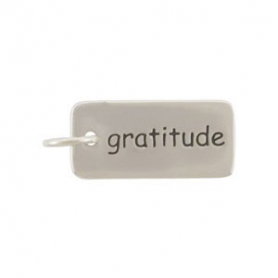 Sterling Silver Word Charm Gratitude
