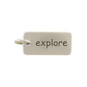 Sterling Silver Word Charm  - Explore
