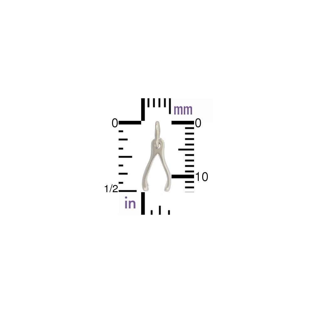 Sterling Silver Wishbone Charm - Small 13x6mm